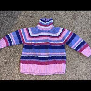 HannaAndersson sz 90 3T PinkPurple Stripe Sweater